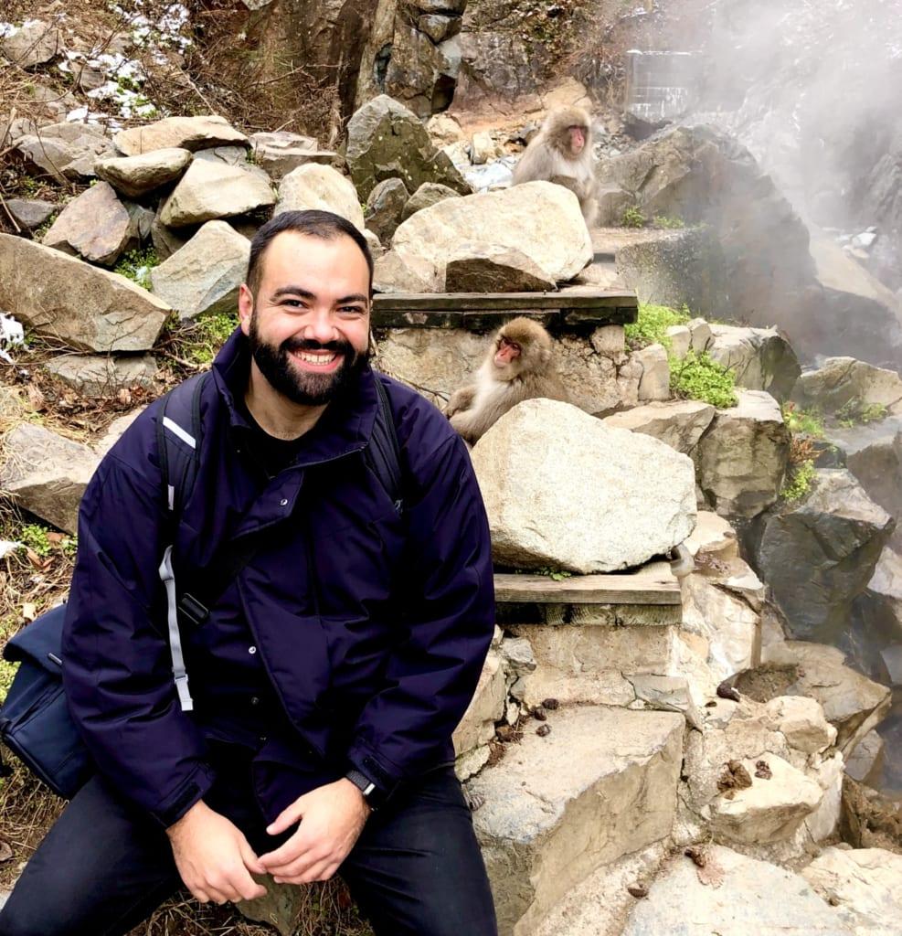Selfie avec les macaques du jigokudani monkey park