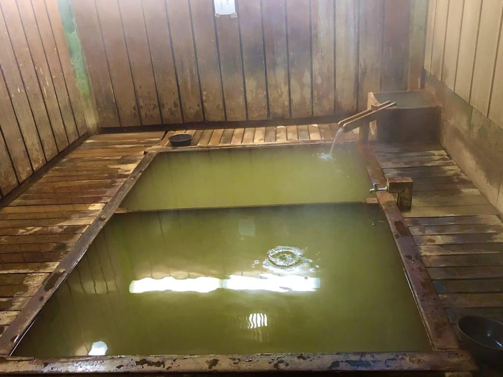 Le bain fumant du 9ème onsen de Shibu Onsen