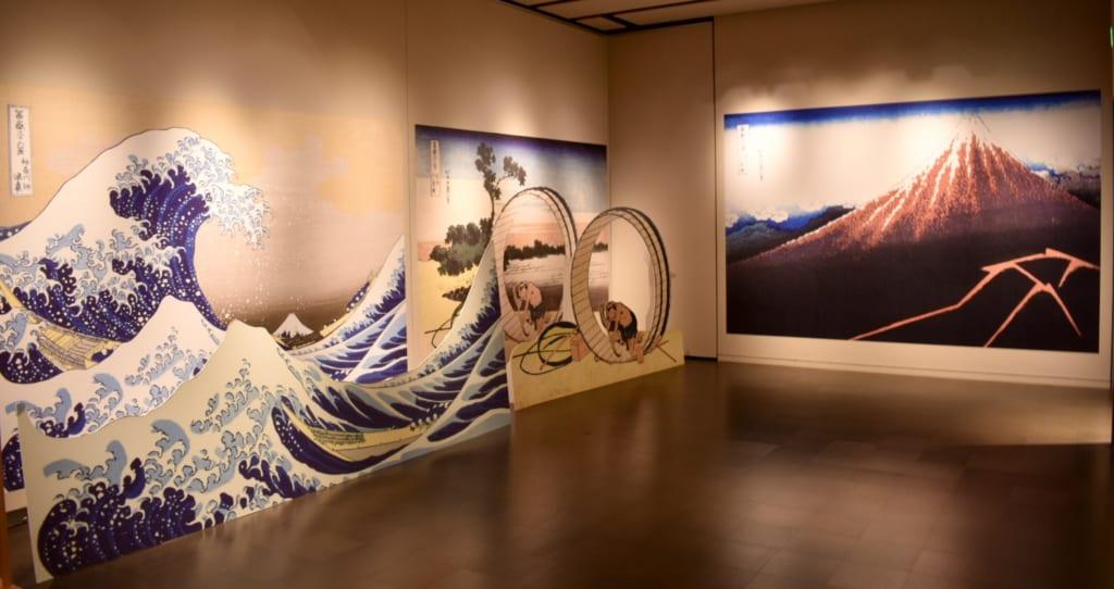Oeuvres d'art exposées au musée Hokusai à Obuse