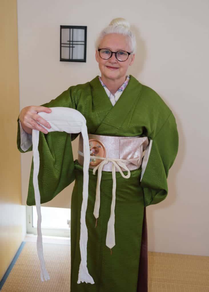 l'obi-makura permet de maintenir la boucle en place