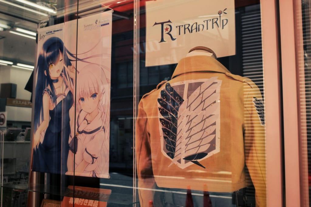 Vitrine d'un magasin de cosplay à Osaka