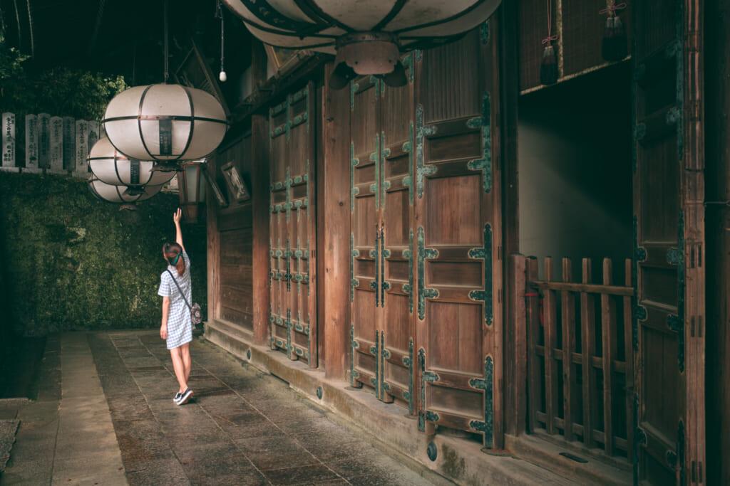 Nigatsu-do, l'un des temples traditionnels japonais du parc de Nara