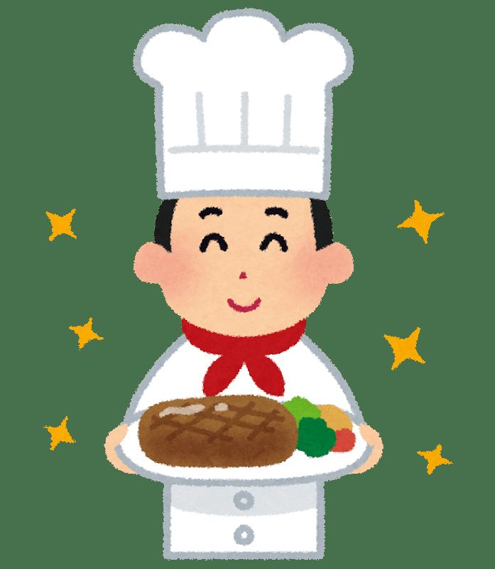 Un chef présentant son plat