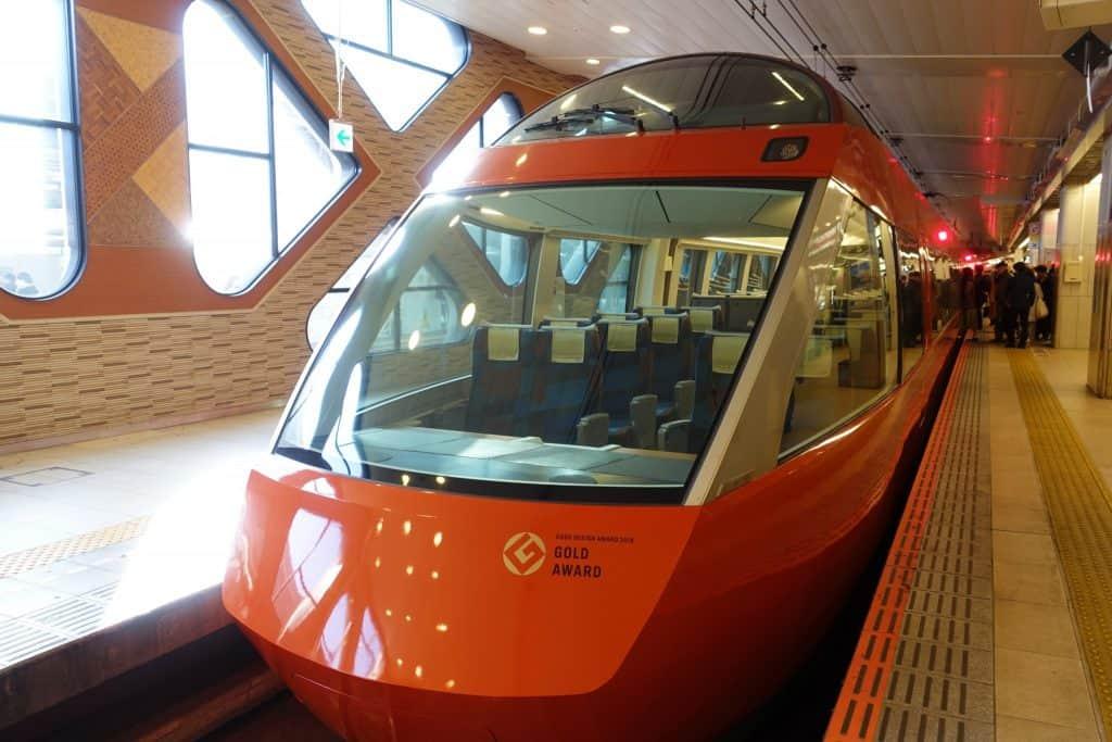 le romancecar, un train qui mène à Hakone