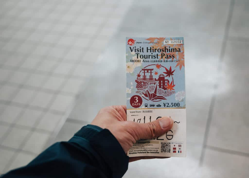 l'un des pass régionaux pour profiter d'Hiroshima : le visit hiroshima tourist pass