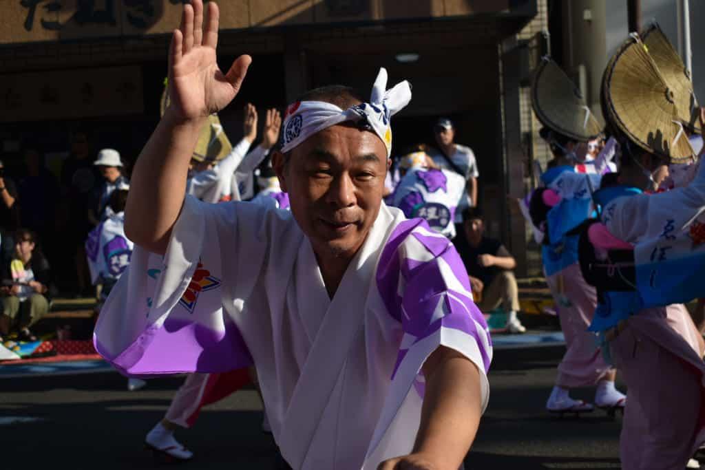 Un danseur traditionnel japonais à Yamato