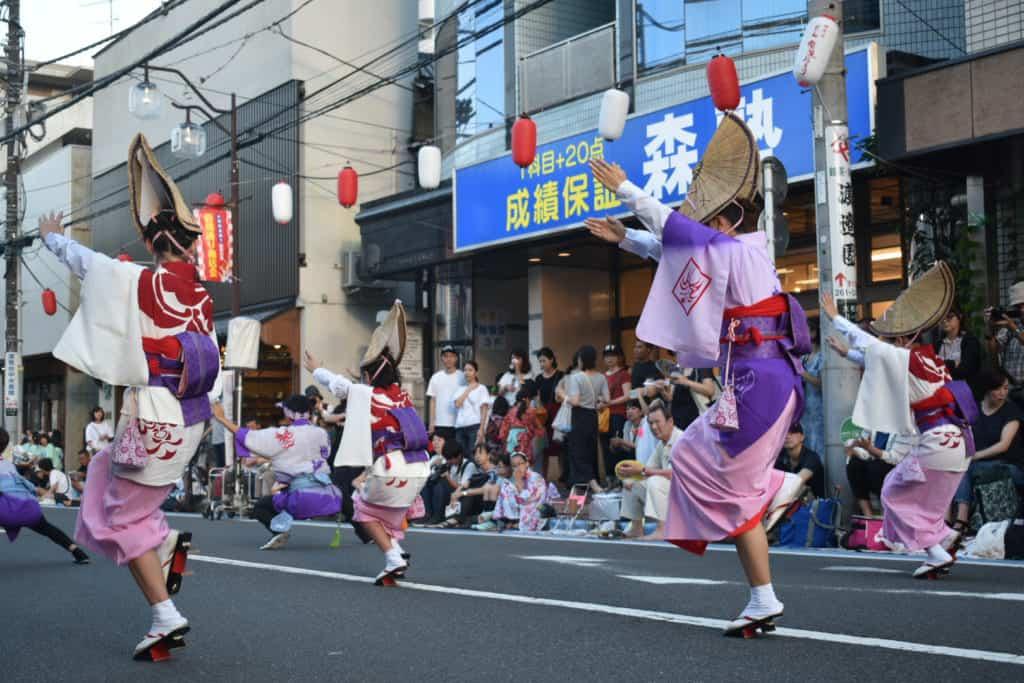 Awa Odori un festival de danse traditionnelle au Japon