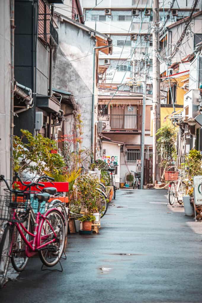 Rue du quartier Nakazakicho à Osaka