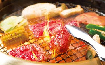 De la viande grillée au style yakiniku