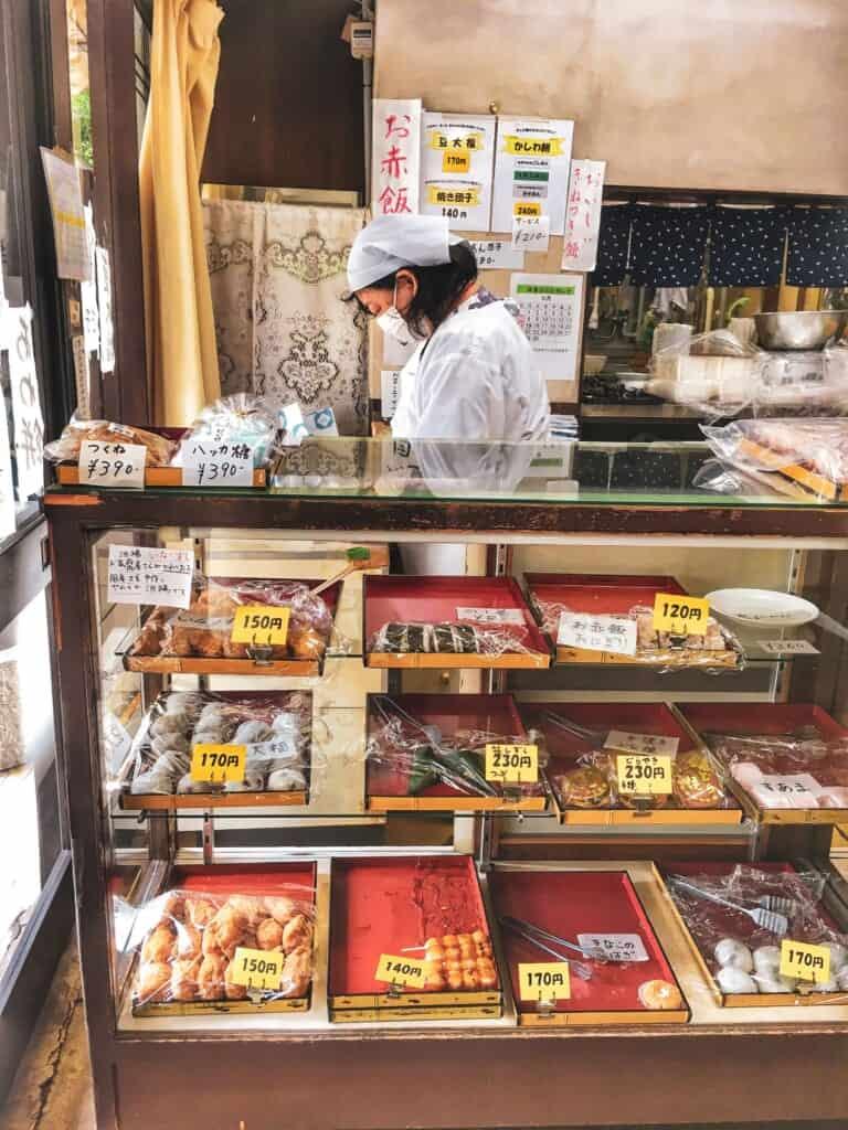 boutique traditionnelle japonaise dans le quartier d'Oji