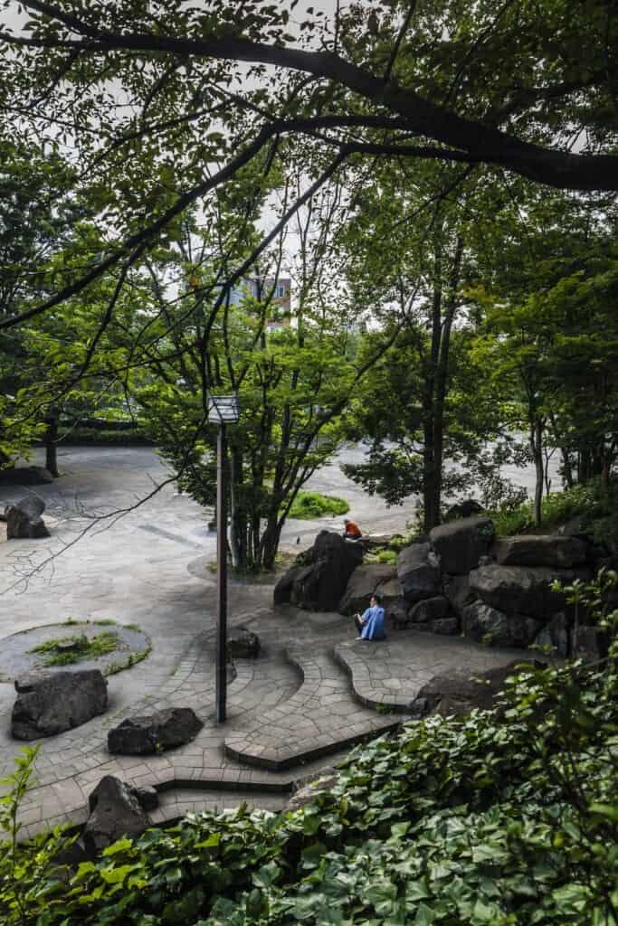 la parc Asukayama dans le quartier d'Oji à Tokyo