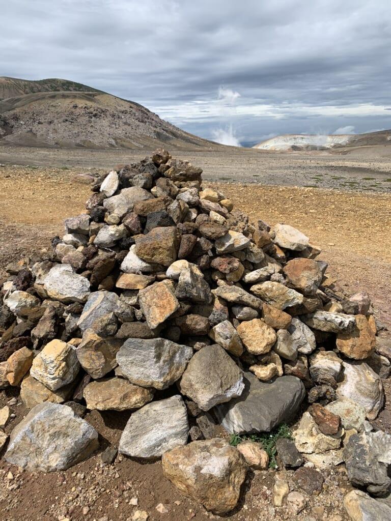 Cairn sur le mont Meakan