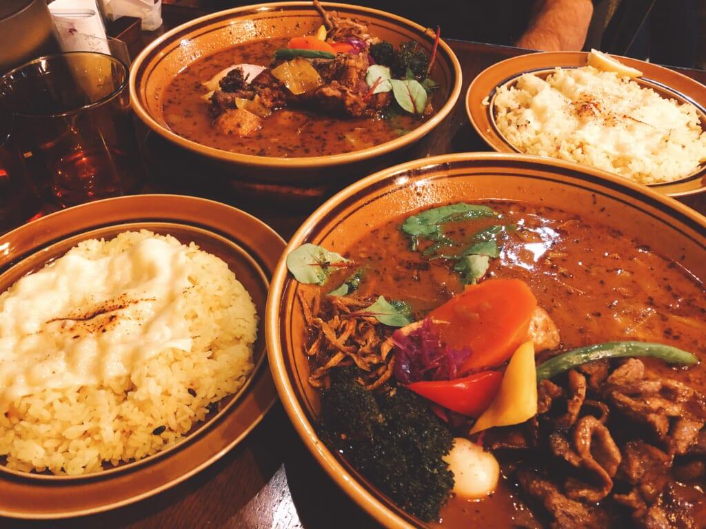 la soupe au curry, une spécialité japonaise d'Hokkaido