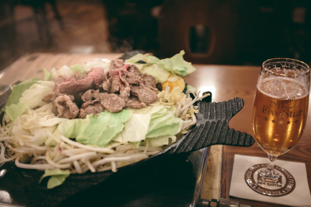 Jingisukan, un barbecue japonais spécialité d'hokkaido