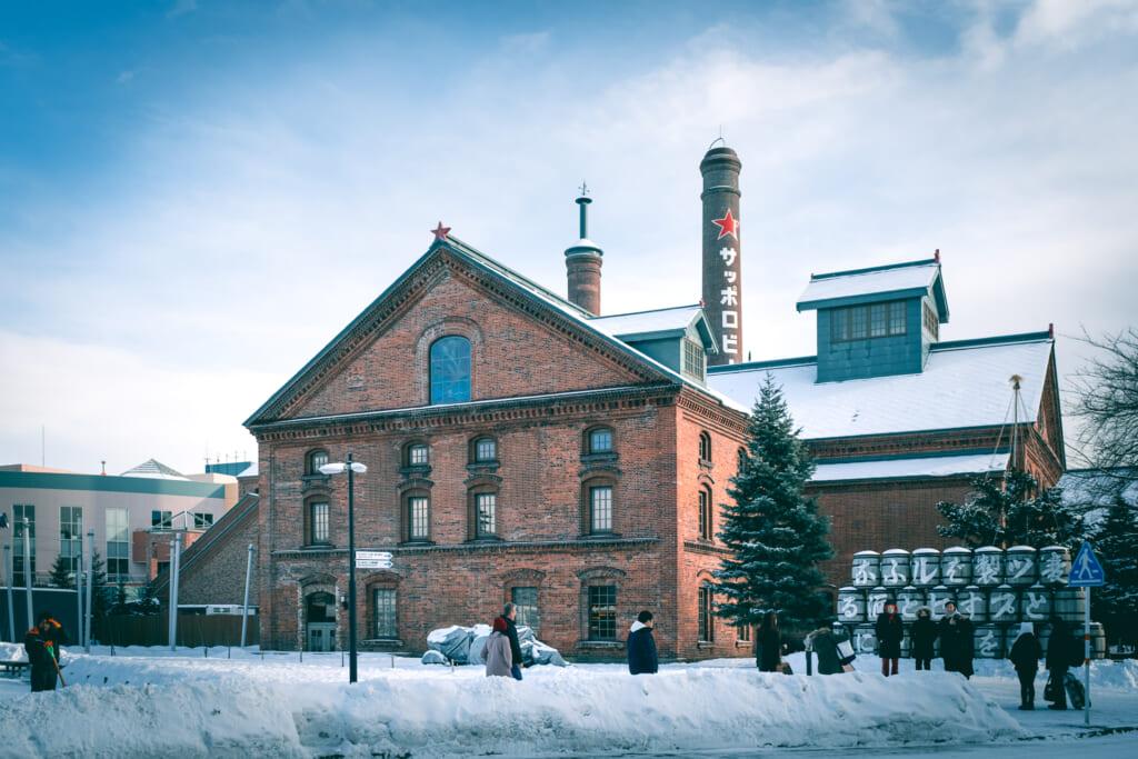 le sapporo beer garden sous la neige