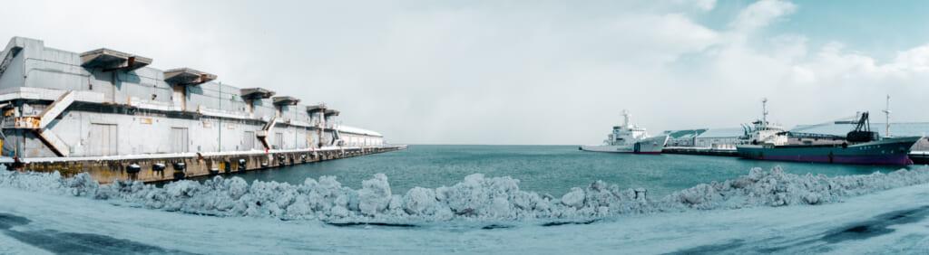 Le port d'Otaru à Hokkaido