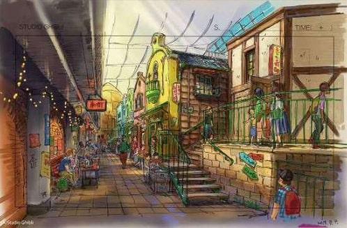 concept art du Grand Entrepôt Ghibli