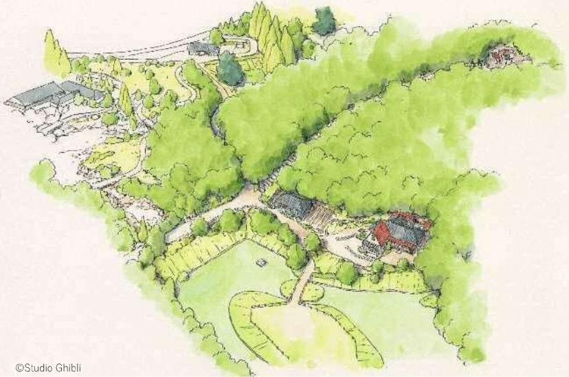 La Forêt Donkoko future partie du parc d'attraction des studios Ghibli