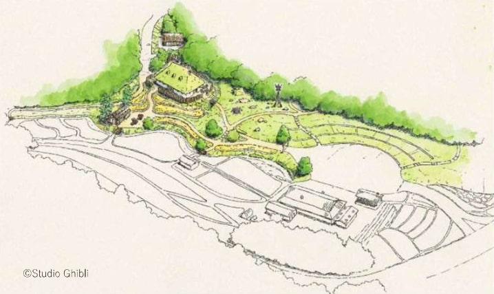Le village de Mononoke, future attraction du parc des studios Ghibli