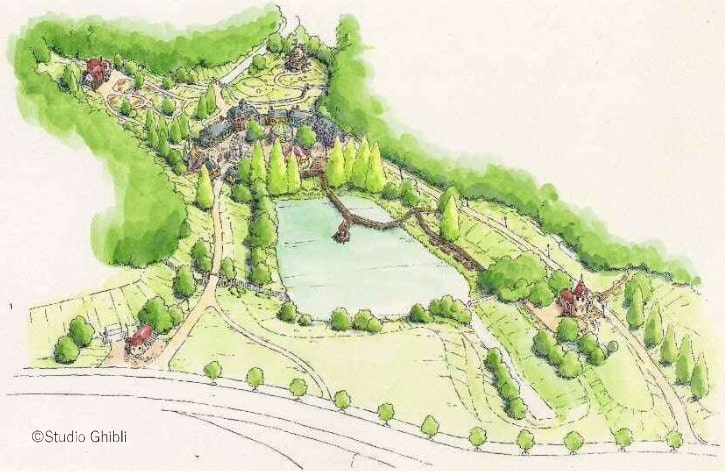 Image promotionnelle du parc Ghibli : la vallée des sorcières