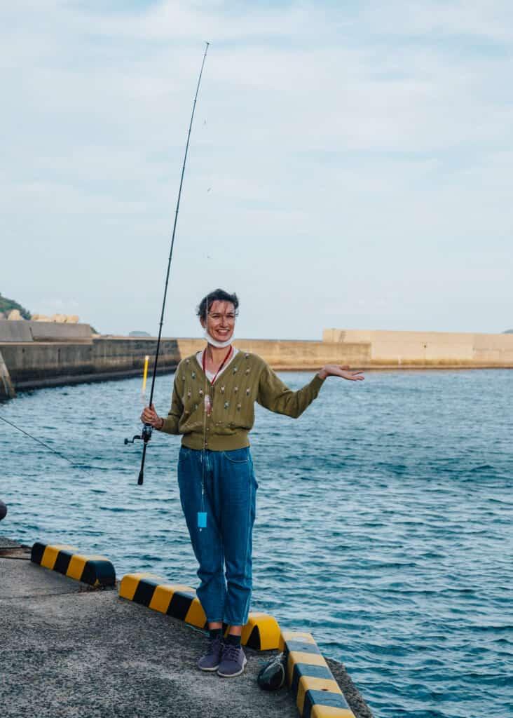 Pêcher l'aji (chinchard) sur l'île Ojika au Japon