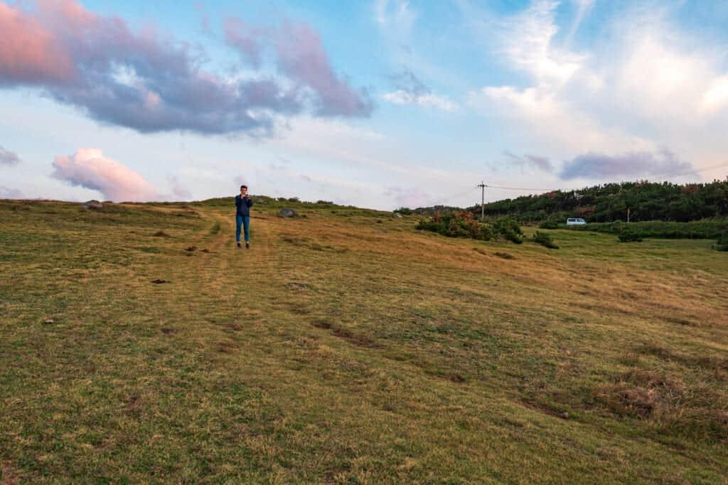un champ sur l'île d'Ojika