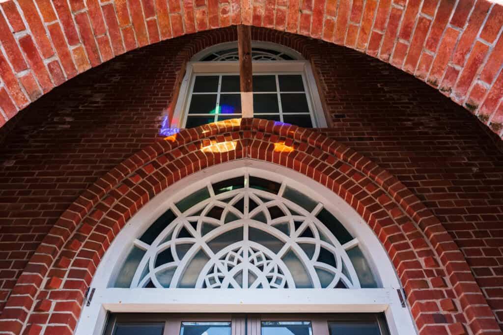 Les vitraux à l'église de Kusahara, îles de Goto