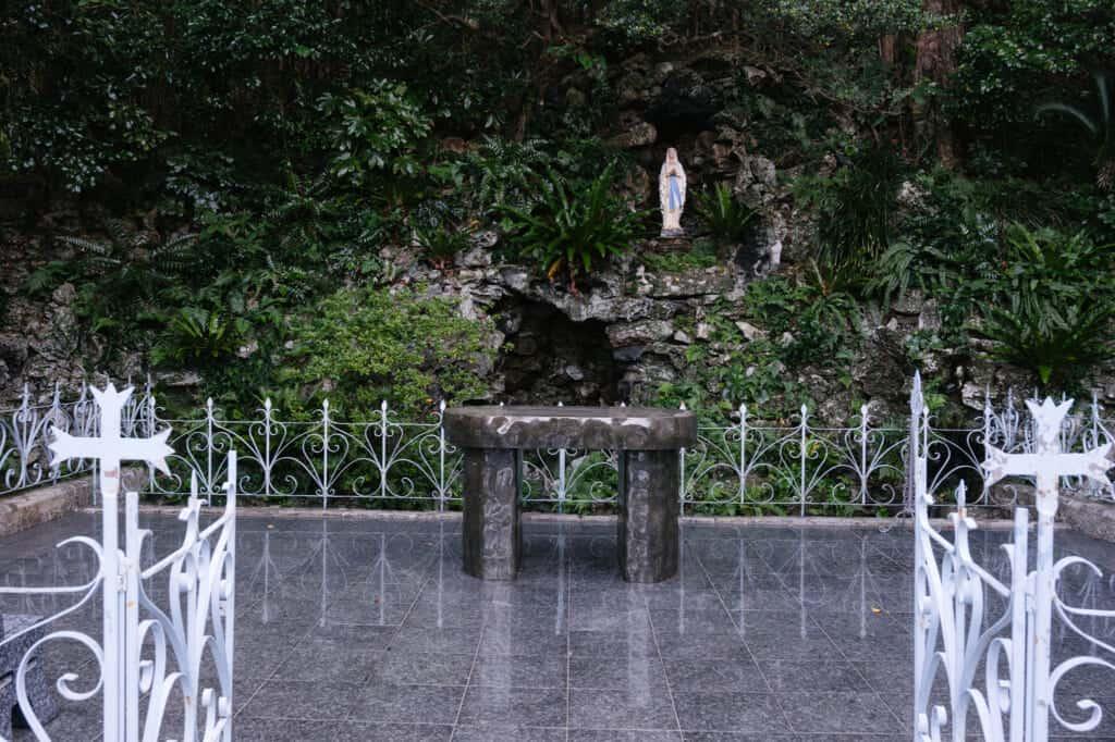 Notre-Dame de Lourdes à l'église d'Imochiura, îles de Goto