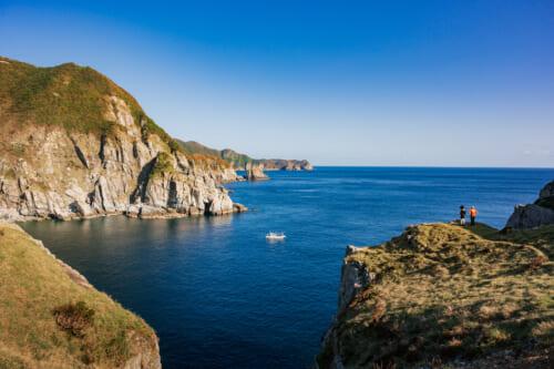 L'océan depuis le sentier de randonnée menant au phare d'Osezaki