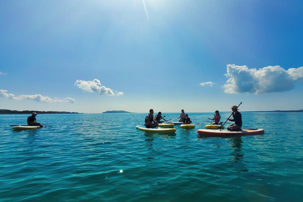 leçon de stand up paddle dans les île de Goto