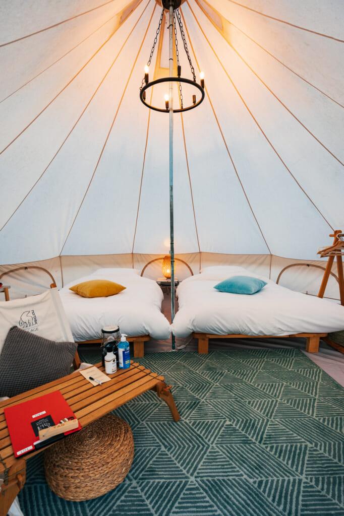 l'intérieur d'une tente à Nordisk Village