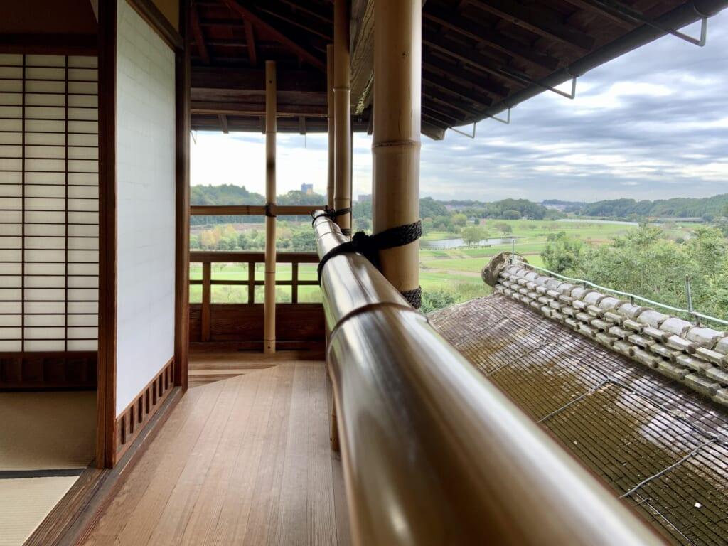 Le parc de Kairakuen depuis le Kobuntei