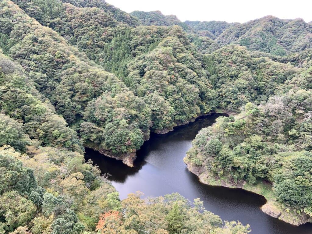 vue depuis le pont ryokujin