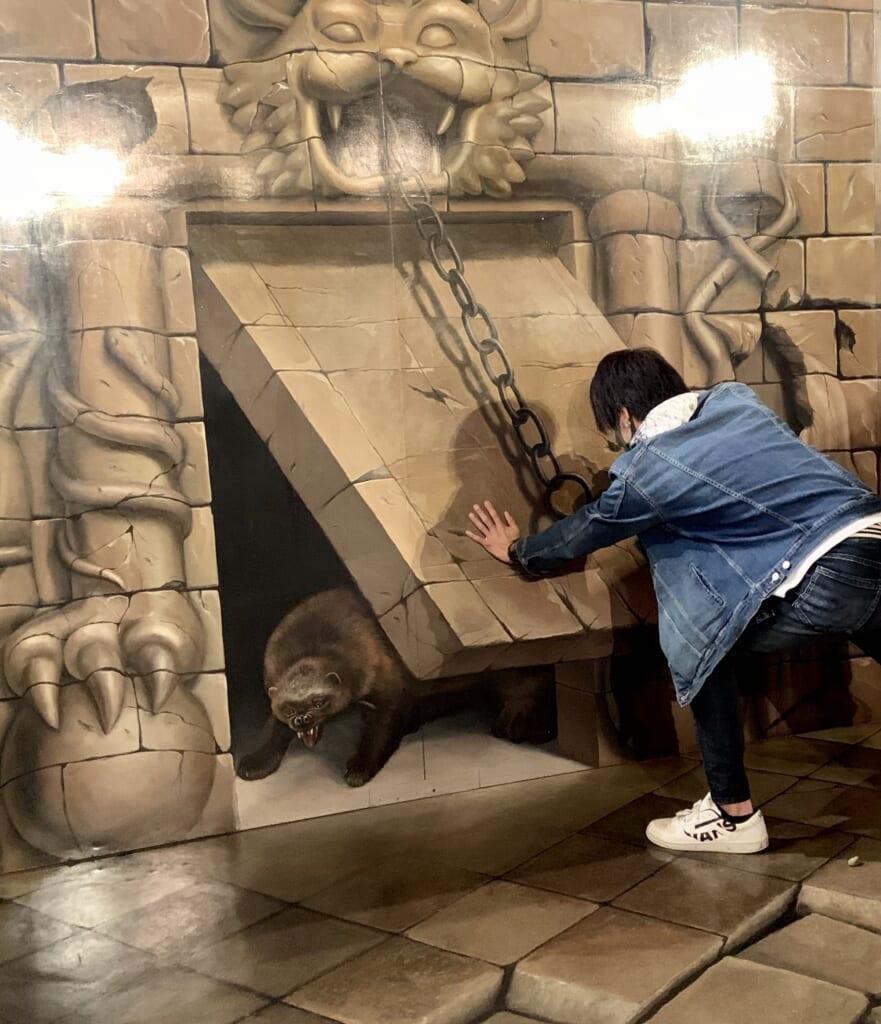 trope l'oeil dans un musée japonais
