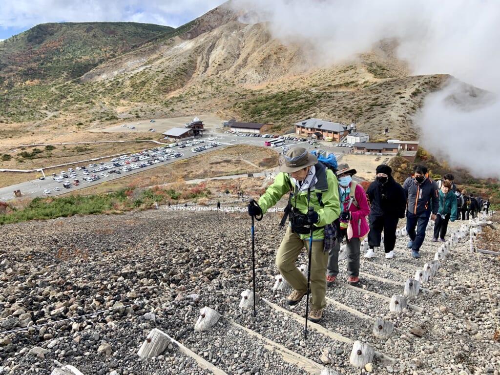 ascenssion du plateau de Jododaira à Fukushima, sur la diamond road