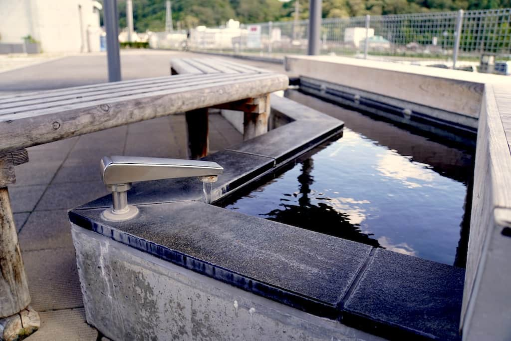 Onsen Ashiyu (bain de pieds) à Okayama