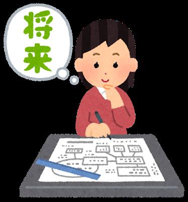 Femme japonaise planifiant ses projets