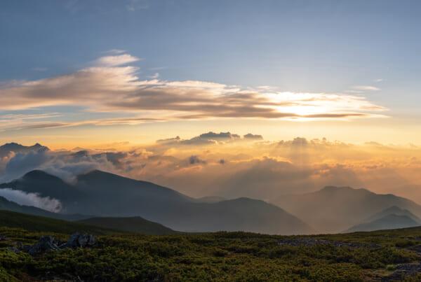 Lever de soleil sur Gifu