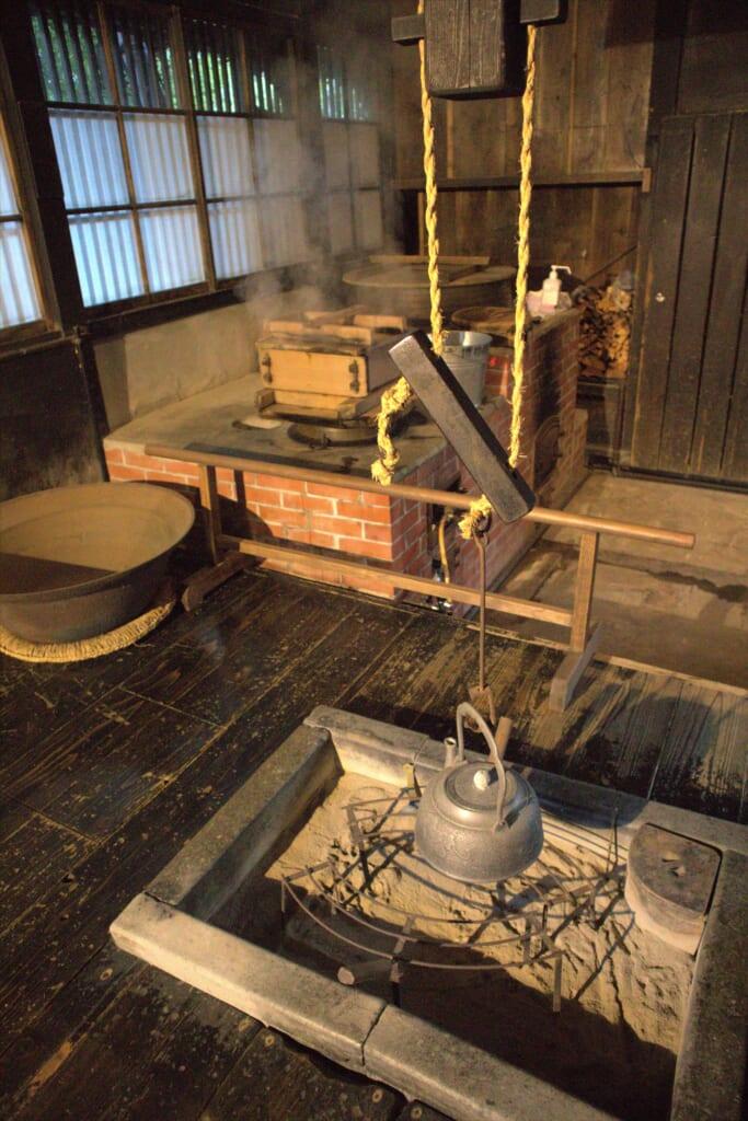 Cuisine et plats japonais dans un musée à Niigata