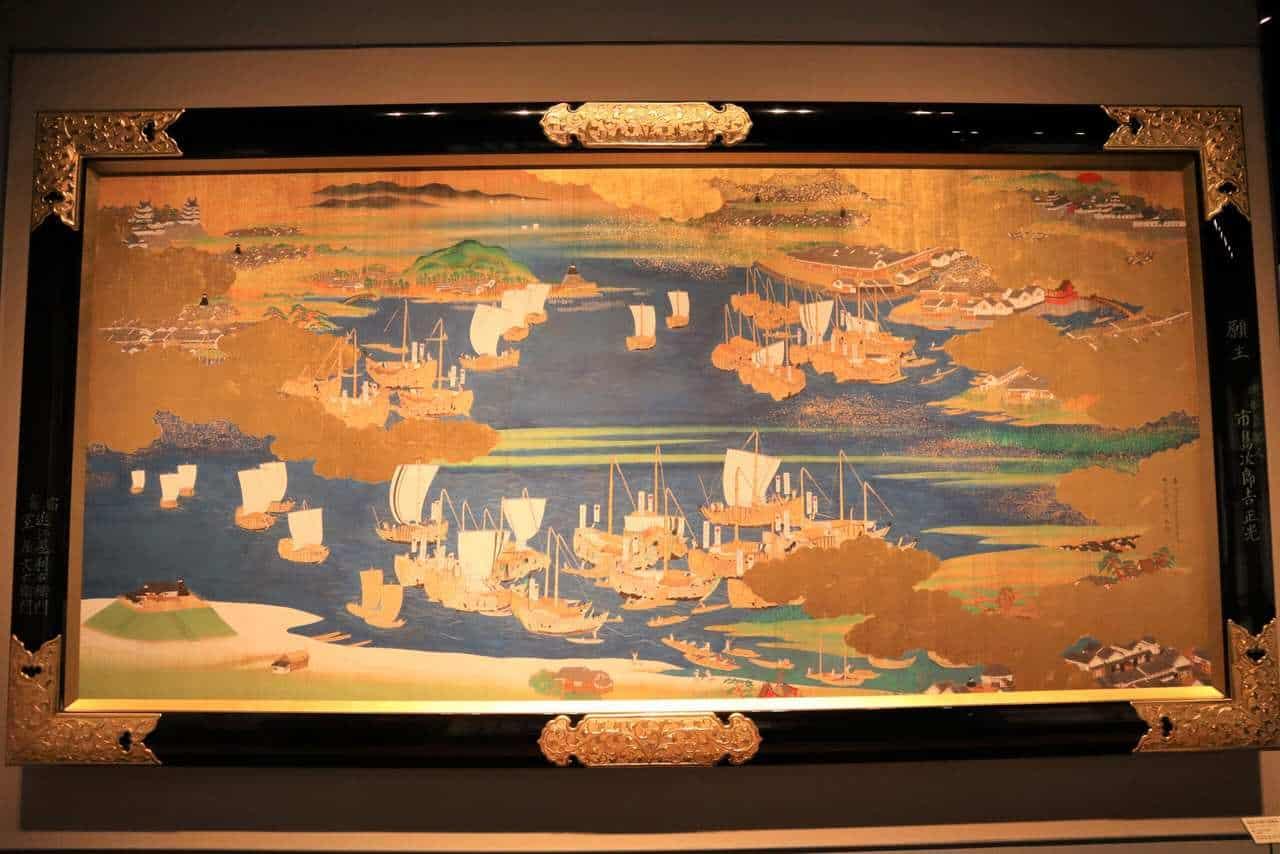 Représentation du port de Niigata au musée d'Histoire de la ville