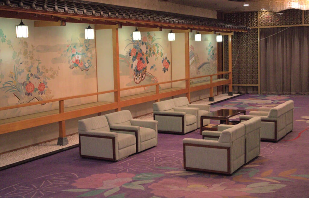 Salon de réception du Ryotsu Yamaki Hotel
