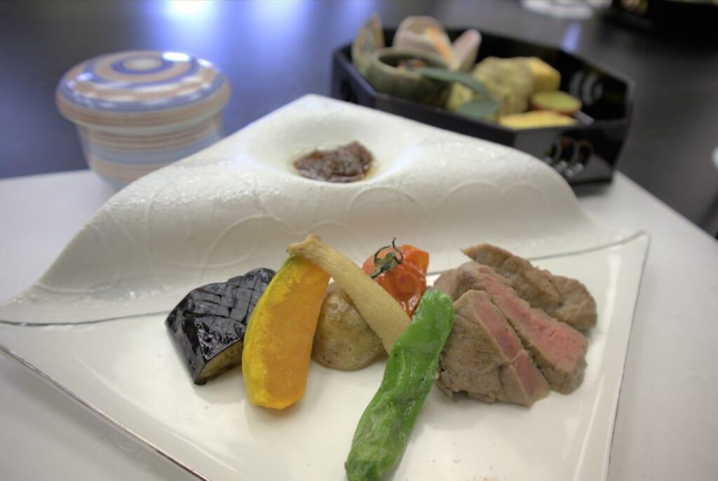 Plat de viande à Niigata