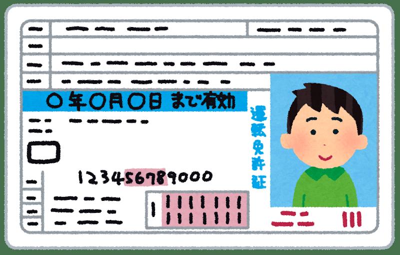 Permis de conduire d'un homme japonais
