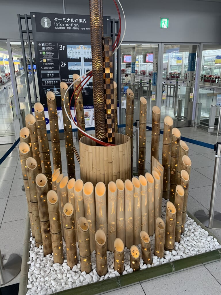 Installation Lumières de bambou