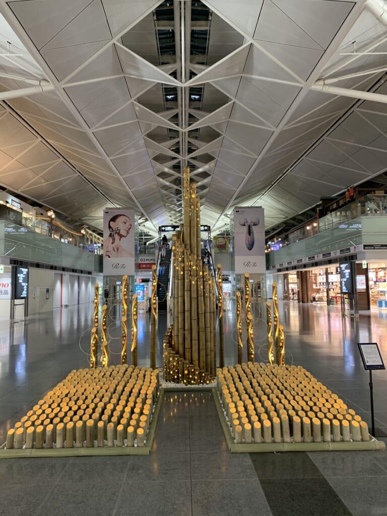 Installation Lumières de bambou, vue d'ensemble
