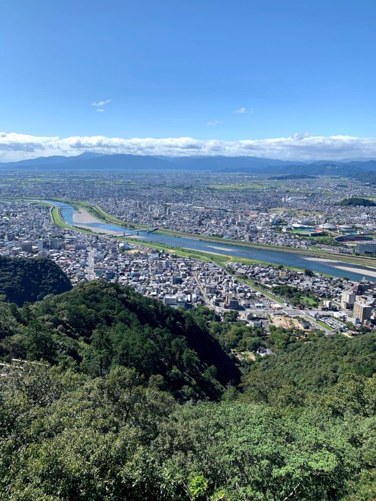 Vue depuis le château de Gifu