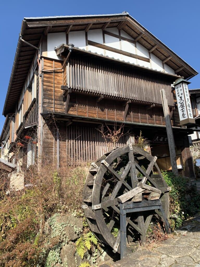 moulin à eau traditionnel du Japon