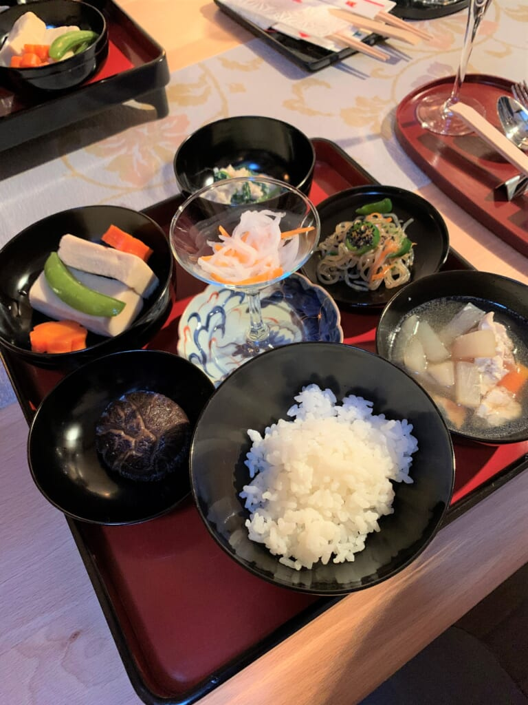 Shojin-ryori sur table