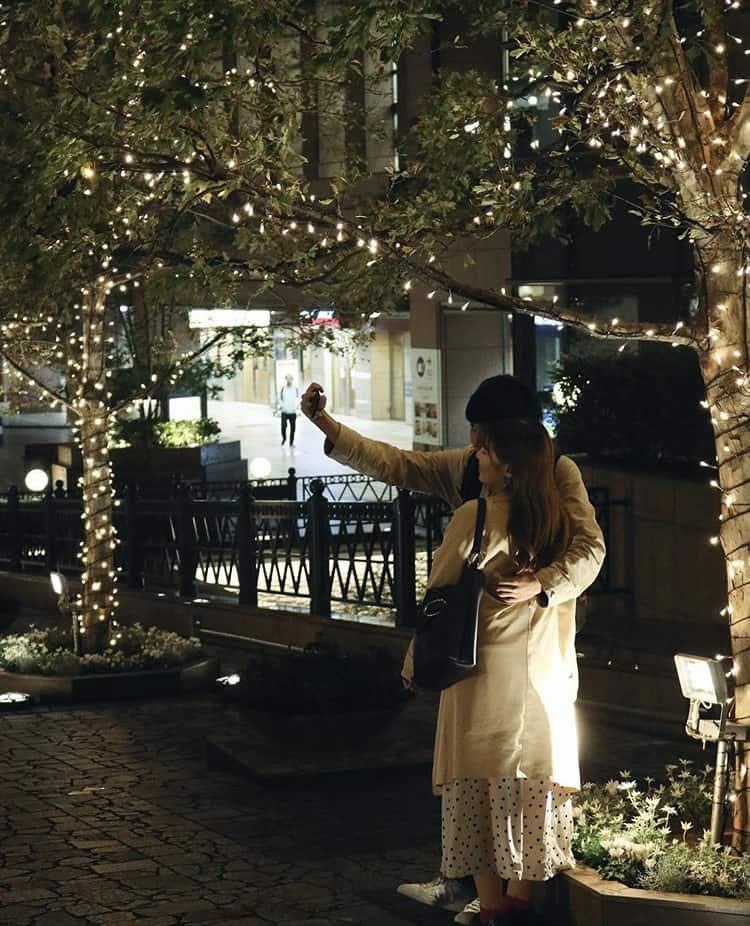 Un couple à Ebisu, Tokyo.