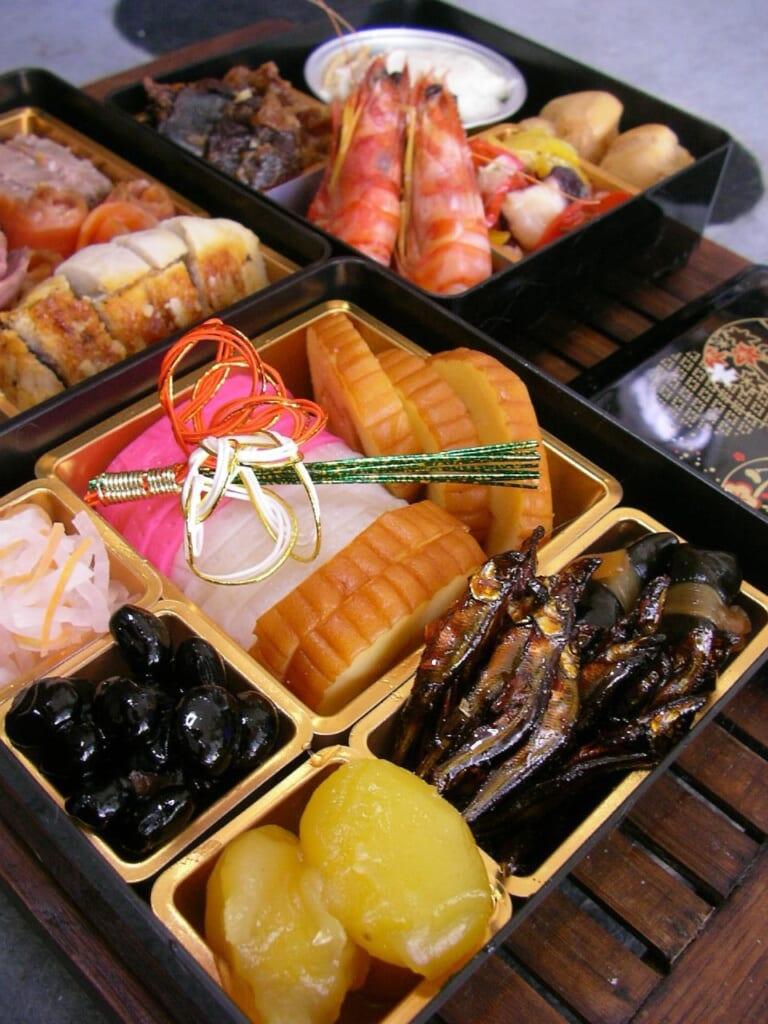 Repas typique du Nouvel An.© Hajime NAKANO